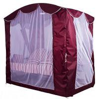Тент крыша SEBO с актимоскитной сеткой для качелей Оазис Люкс Бордо